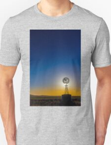 Afternoon light at the windmill -- 2.5 km north east of -- GLENGOWER, VIC, Australia T-Shirt