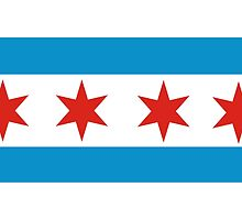 chicago flag by tony4urban