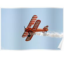 Biplane at an airshow Poster