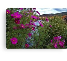 Garden on the Bridge of Flowers Canvas Print