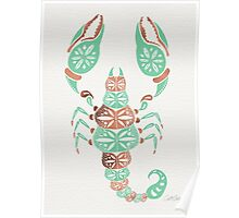 Scorpion – Mint & Rose Gold Poster