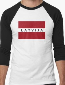 flag of latvia Men's Baseball ¾ T-Shirt