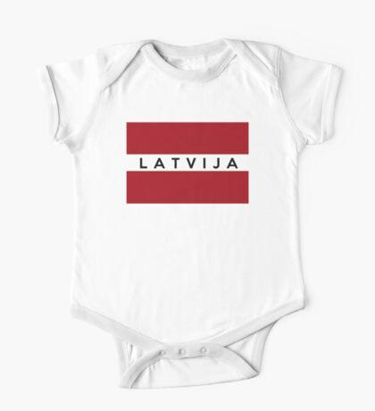 flag of latvia One Piece - Short Sleeve