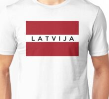 flag of latvia Unisex T-Shirt