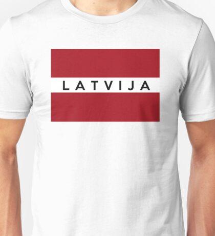 flag of latvia Unisex T-Shirt