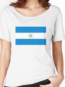 flag of Nicaragua Women's Relaxed Fit T-Shirt
