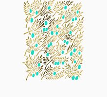 Gold & Turquoise Olive Branches Unisex T-Shirt
