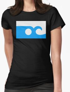 ocean city flag Womens Fitted T-Shirt