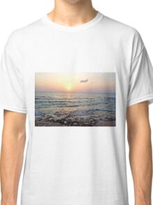 Caribbean Sunset over Seven Mile Beach in Grand Cayman Classic T-Shirt