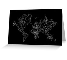 world map low poly Greeting Card