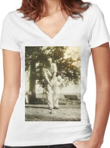 FORE! A Tribute To The Open 2015 Women's Fitted V-Neck T-Shirt