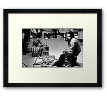 3 A.M in the Mall Framed Print