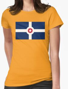 indianapolis flag Womens Fitted T-Shirt