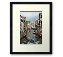 Colourful Venice Framed Print