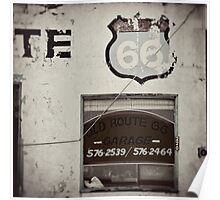 Old Route 66 Garage Poster