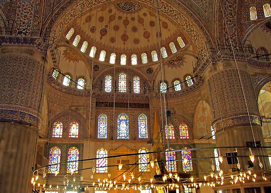 Inside the Blue Mosque by Tom Gomez