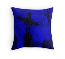 Graveyard Blues Throw Pillow