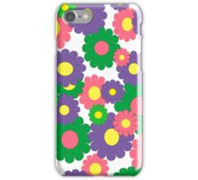Colorful pop art flowers iPhone Case/Skin