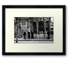 Walking Women Meet Walking Men  Framed Print