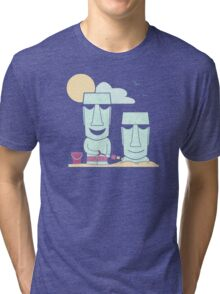 Easter Island Summer Fun Tri-blend T-Shirt