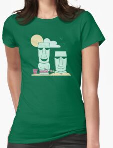 Easter Island Summer Fun Womens Fitted T-Shirt