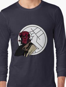 Minimalist Hellboy B.P.R.D. Long Sleeve T-Shirt