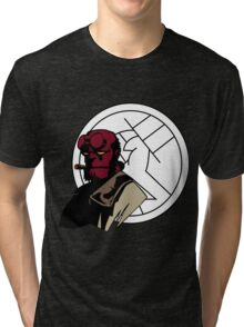 Minimalist Hellboy B.P.R.D. Tri-blend T-Shirt