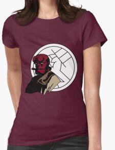 Minimalist Hellboy B.P.R.D. Womens Fitted T-Shirt