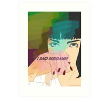 Mia Wallace, Pulp Fiction Art Print