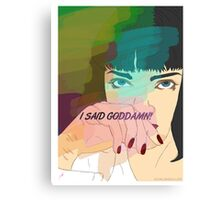Mia Wallace, Pulp Fiction Canvas Print