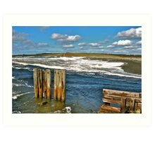 Beach at Salmon River Art Print