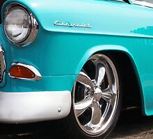 Baby Blue American Chevrolet Muscle Car by Amy McDaniel