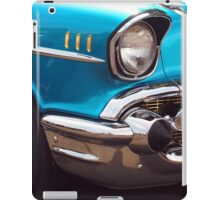Chevrolet Bel Air Muscle Cart in Blue and Gold iPad Case/Skin