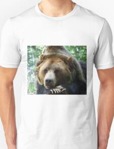 Grizzly Bear in the Colorado Rockies summer shade Unisex T-Shirt