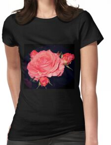 Night Gardening - Rose Burst Womens Fitted T-Shirt