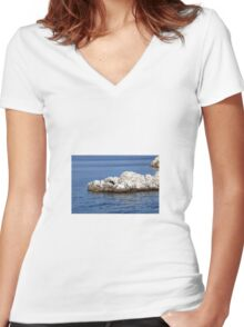 Sea Women's Fitted V-Neck T-Shirt