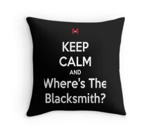WHERE'S THE BLACKSMITH?! Throw Pillow