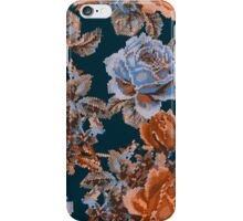 English Garden- Navy/Sienna iPhone Case/Skin