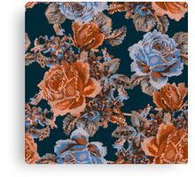 English Garden- Navy/Sienna Canvas Print