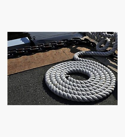 Rope and Chain  Photographic Print