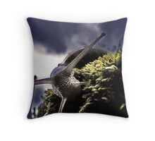 Attack of the giant snail creature Throw Pillow