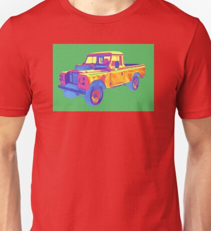 1971 Land Rover Pick up Truck Pop Art Unisex T-Shirt