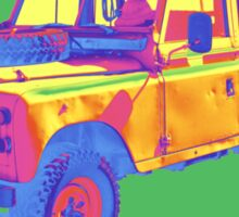 1971 Land Rover Pick up Truck Pop Art Sticker