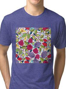 Tribal and Sweet berries seamless Tri-blend T-Shirt