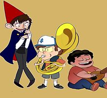 Wirt, Bipper, and Steven~ by doloyolo123