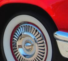 Red Ford Thunderbird - Classic Hot Rod Sticker