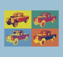 1971 Land Rover Pick up Truck Pop Art One Piece - Short Sleeve