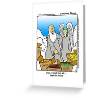 God Didn't Make Little Green Apples by Londons Times Cartoons Greeting Card