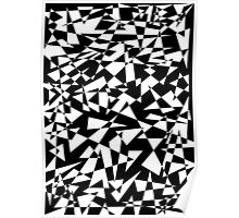 Jumble of Triangles in Black Poster