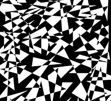 Jumble of Triangles in Black by pASob-dESIGN